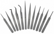 12Pcs Set of Jewelery & Watchmaking Tweezers
