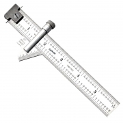 Drill Point Gauge with Hook Ruler